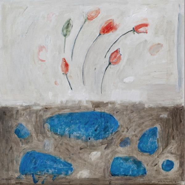 De röda blommornas blues - Red flowers blues 65x65
